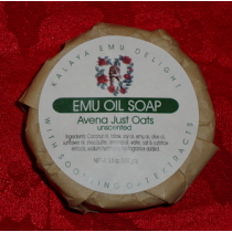 Kalaya Emu Delight - Emu Oil Bar Soap 3.5oz - Just Oats (unscented)